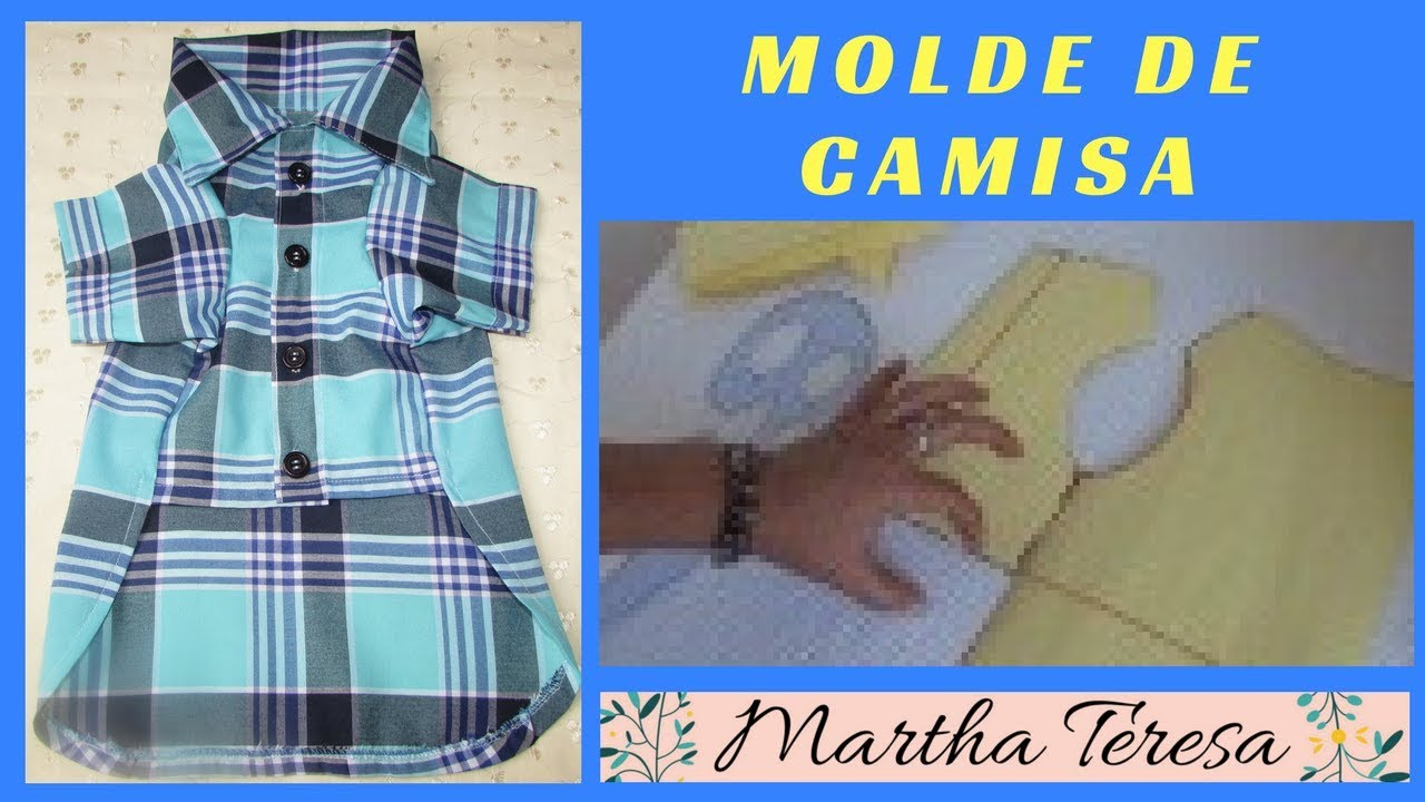 DIY - CAMISA para Perritos - MOLDE BASE. - YouTube