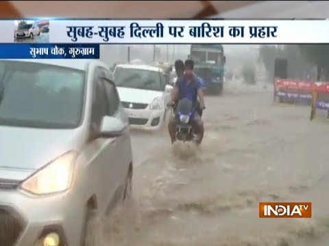 Heavy showers in Delhi-NCR, severe water logging in Gurugram