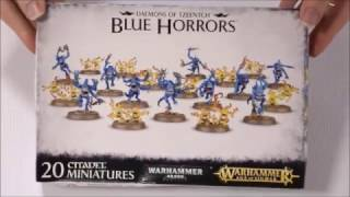 Unboxing Blue Horrors. Daemons of Tzeentch
