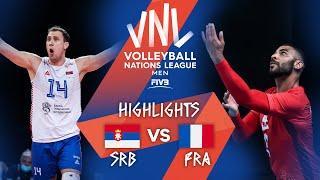 SRB Vs. FRA - Highlights Week 2   Men's VNL 2021