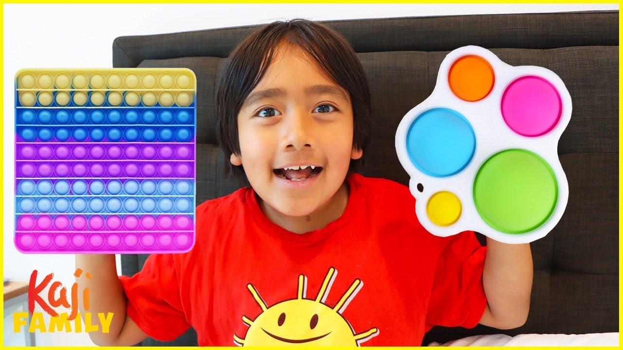 Download Ryan's POP IT Challenge Fidget Toys Collection!