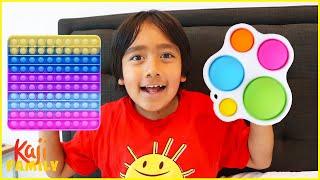 Ryan's POP IT Challenge Fidget Toys Collection!