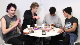 5 Seconds of Summer tuck into some Fish Sticks...did not go down well