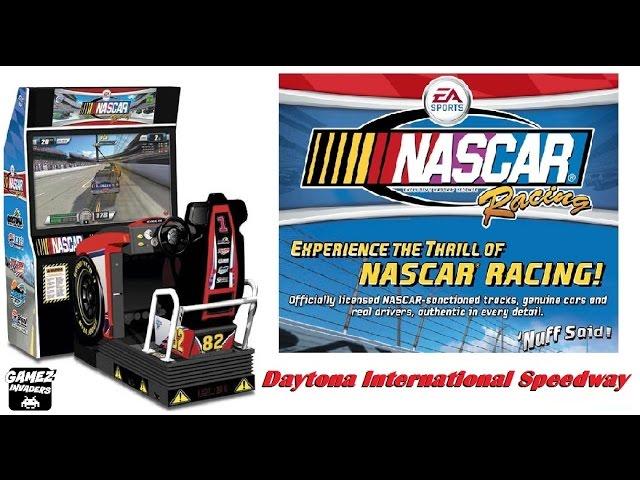 NASCAR RACING ARCADE! Daytona International Speedway Arcade Driving Game