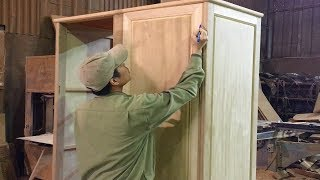Excellent Woodworking Skills You Have Never Seen - How To Build Wardrobe Door Simple and Beautiful