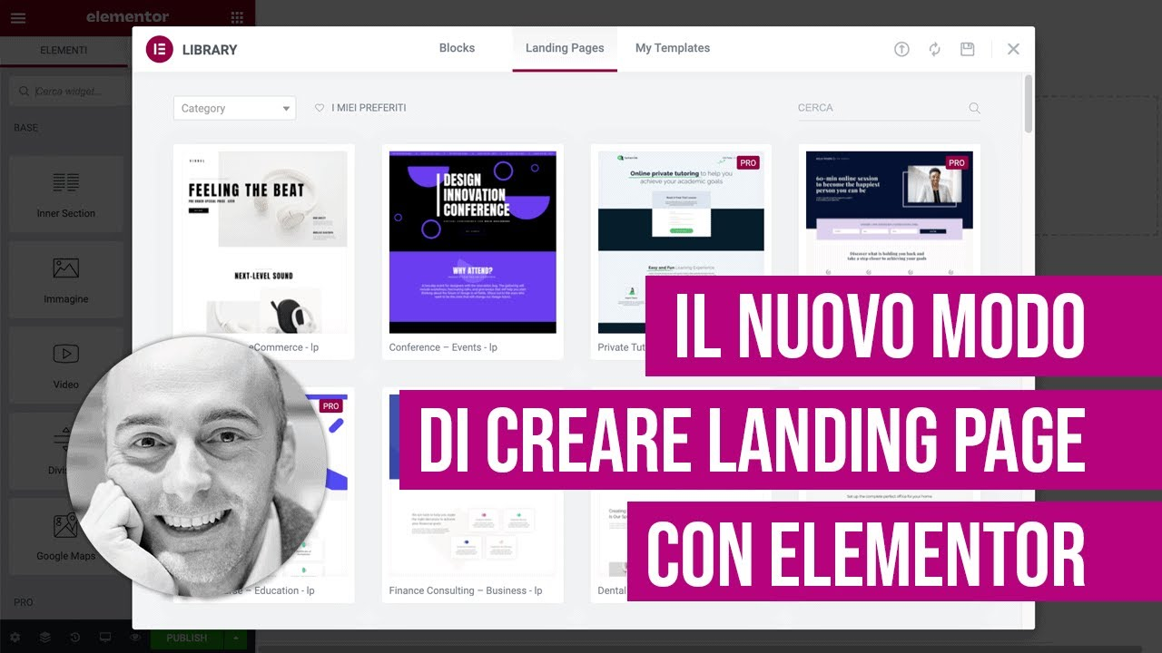 Gli Esperimenti e il nuovo modo di creare Landing Page con Elementor