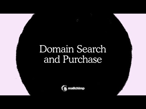 Use Mailchimp's Domain Search and Purchase