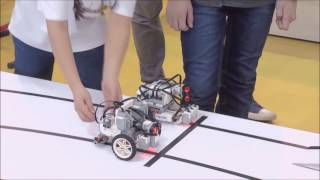 Победный финальный заезд нашего робота в шорт треке Lego