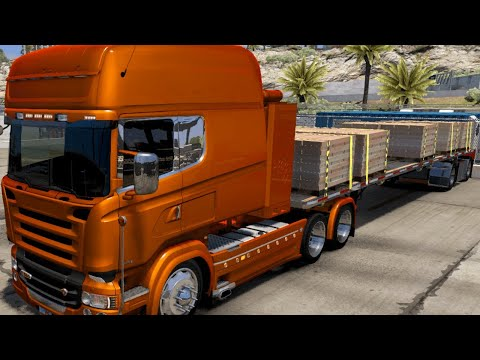 ATS Mods 1.38 - RJL Scania R- Euro Style// Bricks Load |