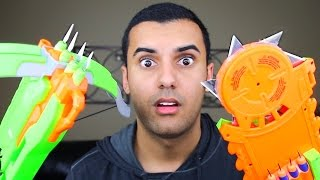 One of ADHD's World's most viewed videos: MOST DANGEROUS TOY OF ALL TIME 2.0!! (EXTREME NERF GUN / ZING BOW EDITION!!) FIRE CHALLENGE!!