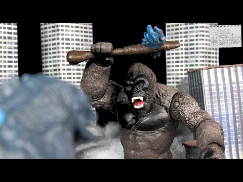Playmates Godzilla Vs Kong (2021) King Kong Battle Damaged With Axe Kaiju Figure Review - Spoilers!