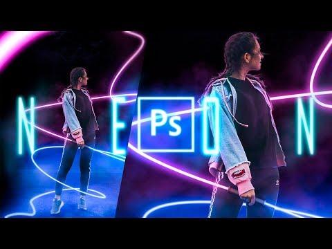 Неоновая Аватарка в Photoshop. Speed Art.