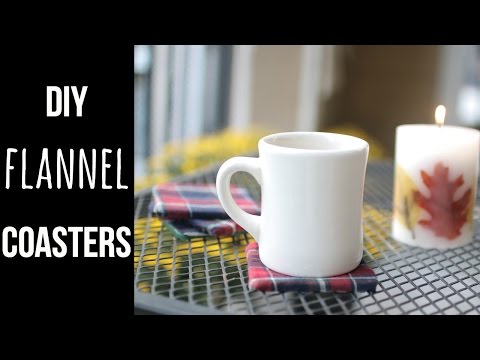 DIY Flannel Coasters//$5 Fall Craft Challenge