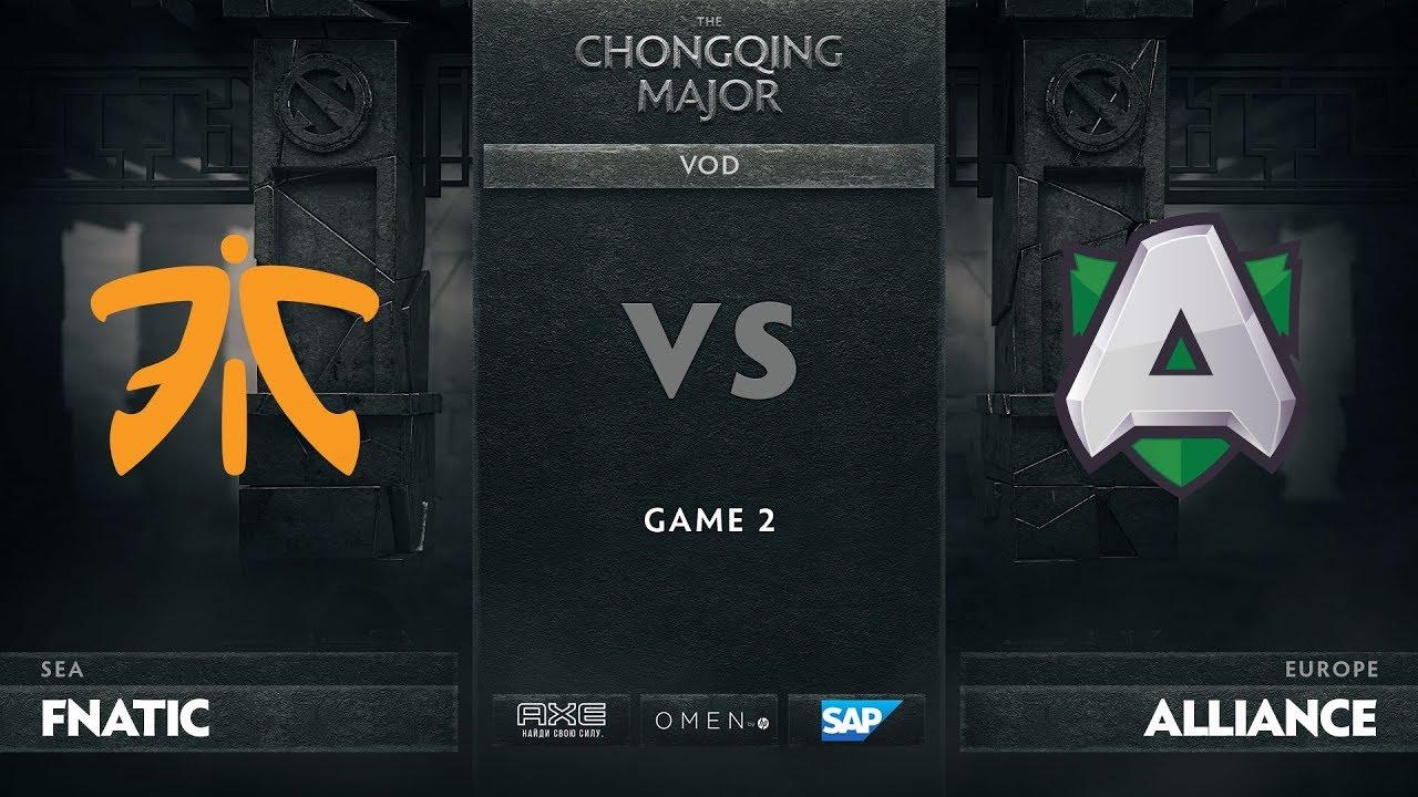 [RU] Fnatic vs Alliance, Game 2, The Chongqing Major Group D