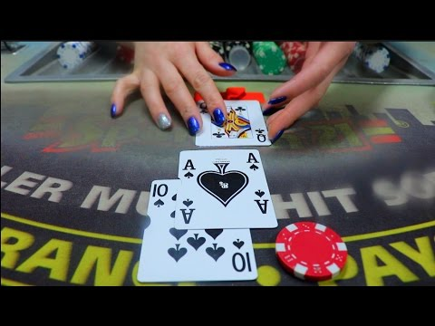 ASMR ♠️♥️ Blackjack Roleplay Card Game, Come Play w/ Me!