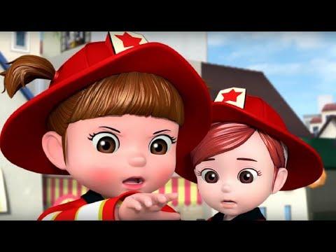 Детские песенки - Консуни: 🚒 Пожарная машина + Магазин - Новые мультики для детей (рифмы, потешки)