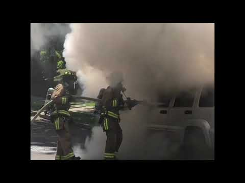 Hartsdale firefighters swiftly extinguished a car fire.