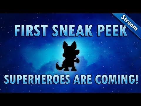 First sneak peeks from the superhero update! [Pixel Worlds Live Stream]