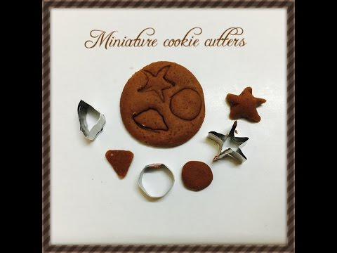 Miniature cookie cutter (that works !!!)  - dollhouse DIY