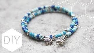 DIY sieraden maken met Kralenhoekje - Beachy memory wire armband