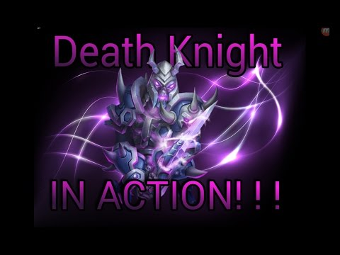 Castle Clash New Hero Death Knight In Action