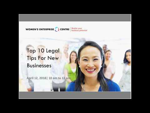 Top 10 Legal Tips for New Businesses Webinar Recording