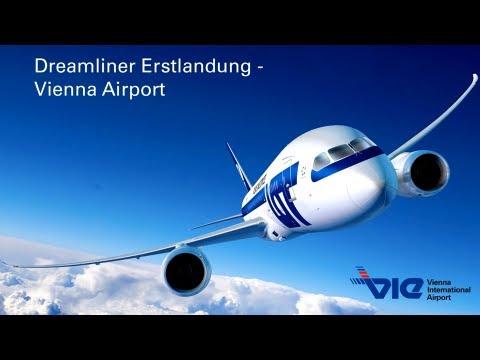 Boeing 787 Dreamliner Erstlandung am Flughafen Wien