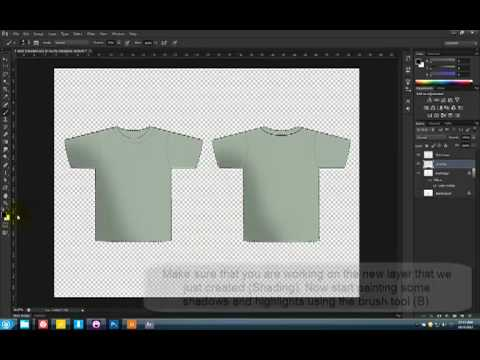 Photoshop T-Shirt Design Tutorial (Basic)