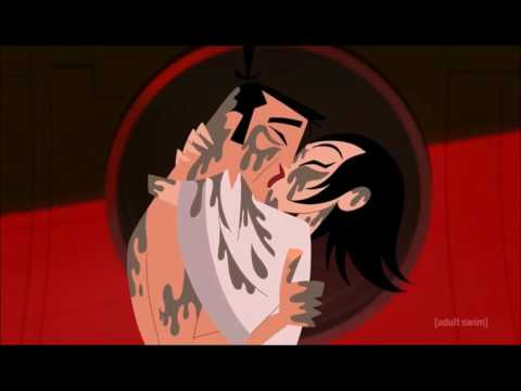 Samurai Jack- Jack and Ashi Kiss-Soundtrack-Dean Martin-Everybody Loves Somebody Somehow