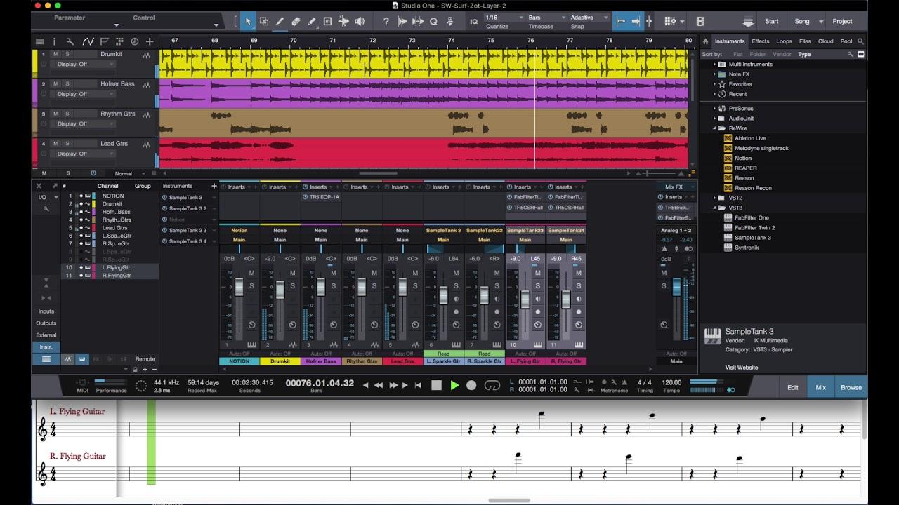 PreSonus Forums   Project: ReWire ~ NOTION + Studio One