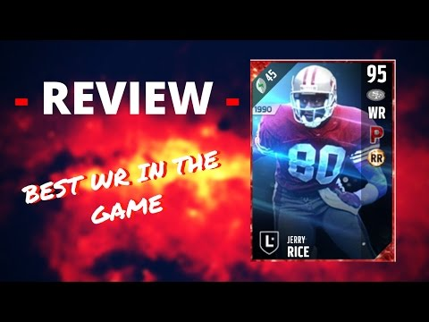 JERRY RICE REVIEW - MADDEN ULTIMATE TEAM 17