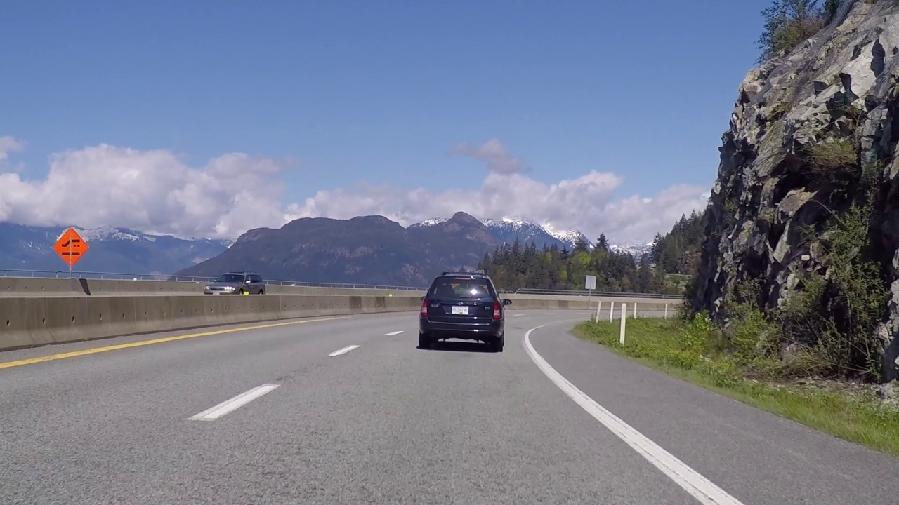 sea to sky highway driving to whistler squamish bc in. Black Bedroom Furniture Sets. Home Design Ideas