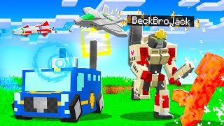 Playing MINECRAFT As TRANSFORMERS! (powerful)