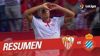 Resumen de Sevilla FC vs RCD Espanyol (6-4)