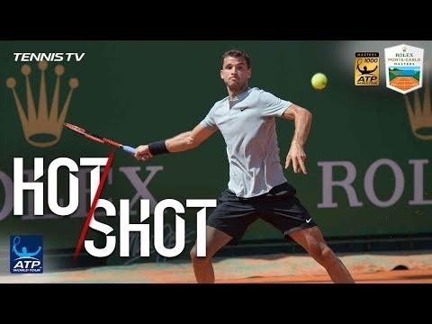 Hot Shot: Dimitrov Curls Lob Winner Over Goffin In Monte-Carlo 2018