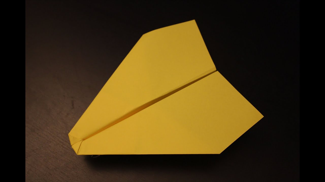 How To Make A Simple Cool Fastest Paper Plane Origami Ever Instruction