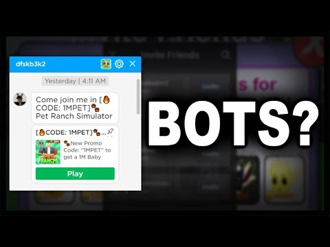 Are BOTS Sending People this Roblox Game?