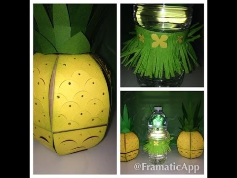 Luau party ideas using stampin up products and svg cuts for How to make luau decorations at home