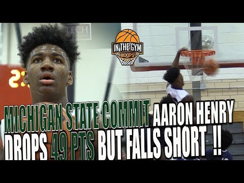 Michigan State Commit Aaron Henry Drops 49pts BUT Falls short To POWER House Hamilton Heights