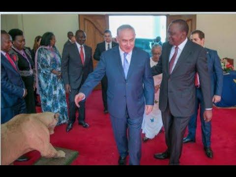 Benjamin Netanyahu graces Uhuru Kenyatta's swearing in State House luncheon