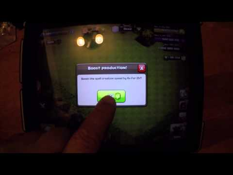 Clash Of Clan HACK , MODS,  SPELL FACTORY UPGRADE LEVEL 1 TO 10 - LIVE ACTION