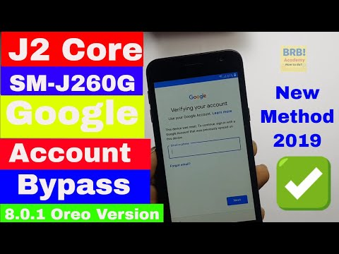 Samsung J2 Core (SM-J260G) 8.1.0 Google Account (frp) Bypass - One Click Latest Solution 2019