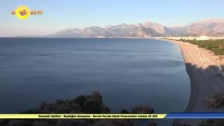 Konyaaltı Sahilleri - Beydağları Buluşması - Berrak Havada Sabah Ponoramaları Antalya 4K UHD