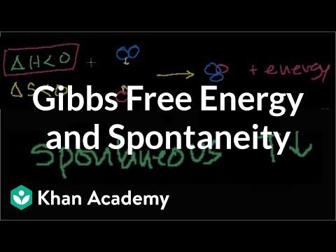 Gibbs free energy and spontaneity | Chemistry | Khan Academy