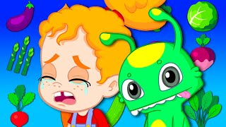 Groovy The Martian & Phoebe - Phoebe learns to eat vegetable thanks to her magic friend Groovy!