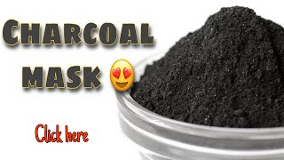Get rid of Blackheads Charcoal mask for black and whiteheads Natural Remedies