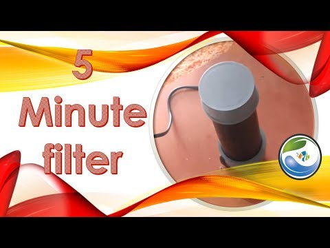 Build a filter in 5 minutes for an aquarium
