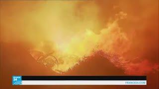 حرائق الغابات تدمر مئات الهكتارات جنوب فرنسا