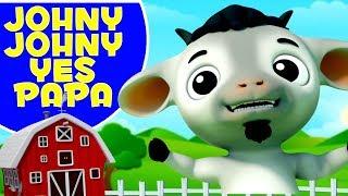 Johny Johny Sim Papa | Rimas De Berçário | Canções Do Bebê | Johny Johny Yes Papa | Baby Goat