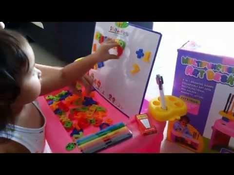 Mainan Edukasi Anak 3 Tahun Multifunctional Art Desk 4 In 1 Youtube